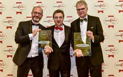 La serata di gala di AUTOBEST: Premi per Opel Group e Ampera-e