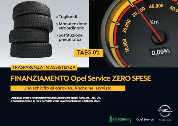 Finanziamento Opel Service Zero spese